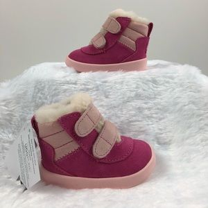 f6f059fd423 UGG booties pink Pritchard shoes baby infant nib NWT